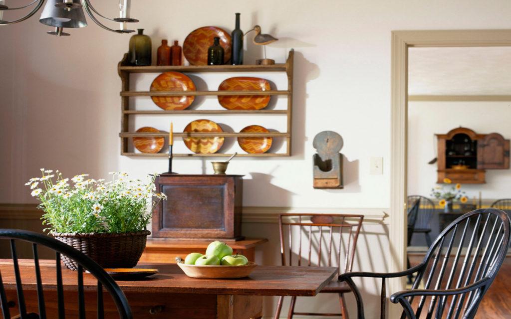 Стиль прованс деревянный стол