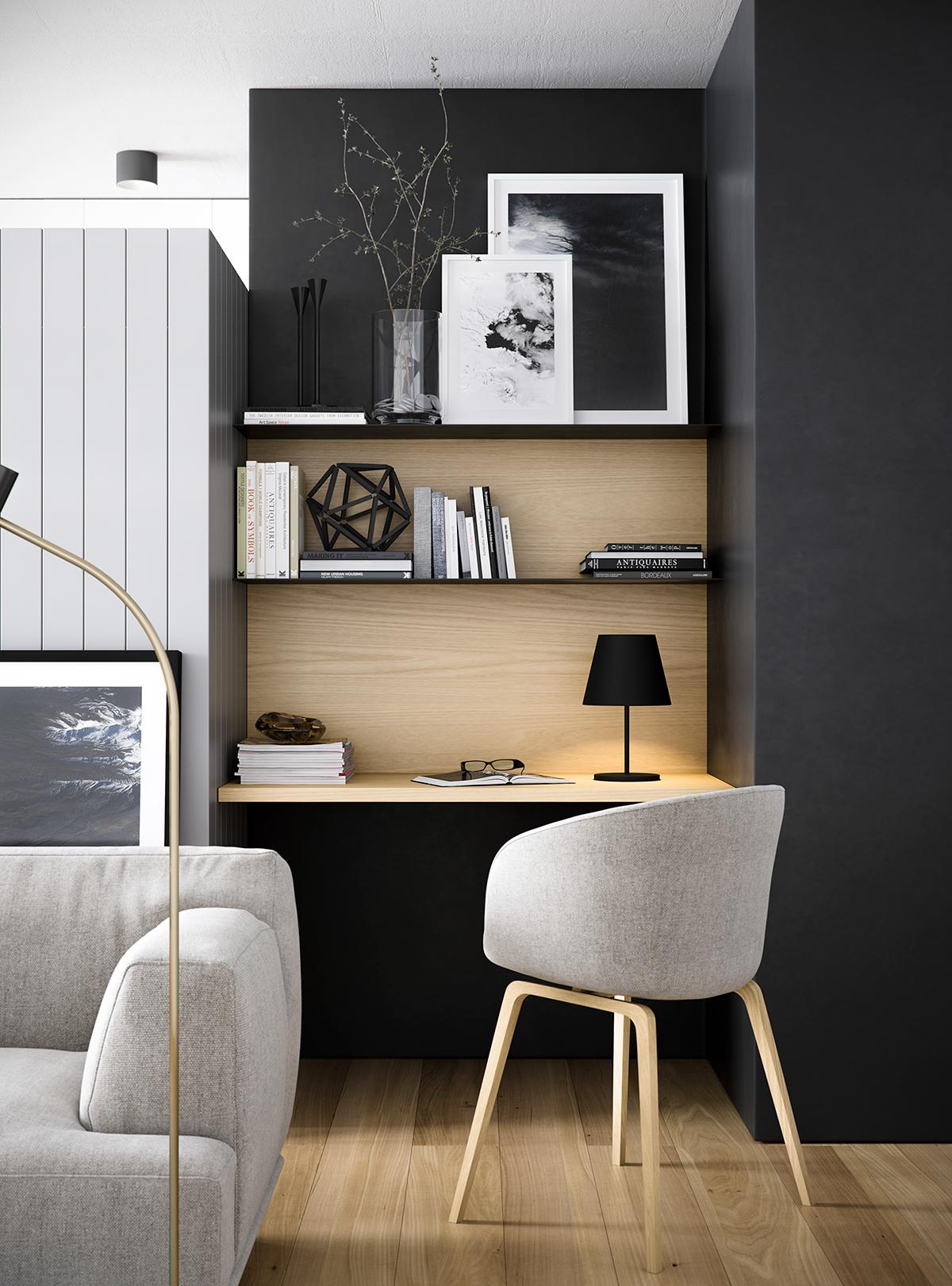 мини-офис в гостиной