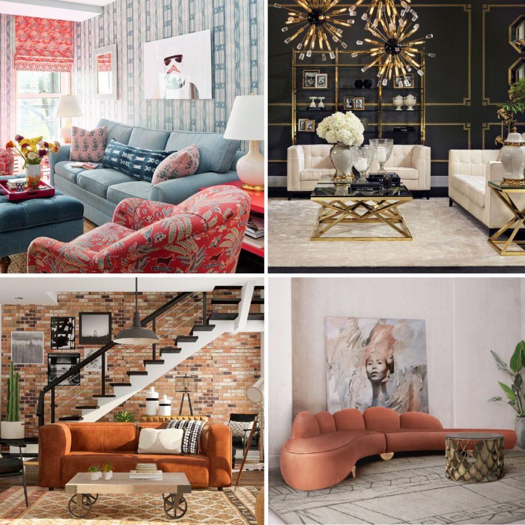 Модные диваны в разных стилях, фото