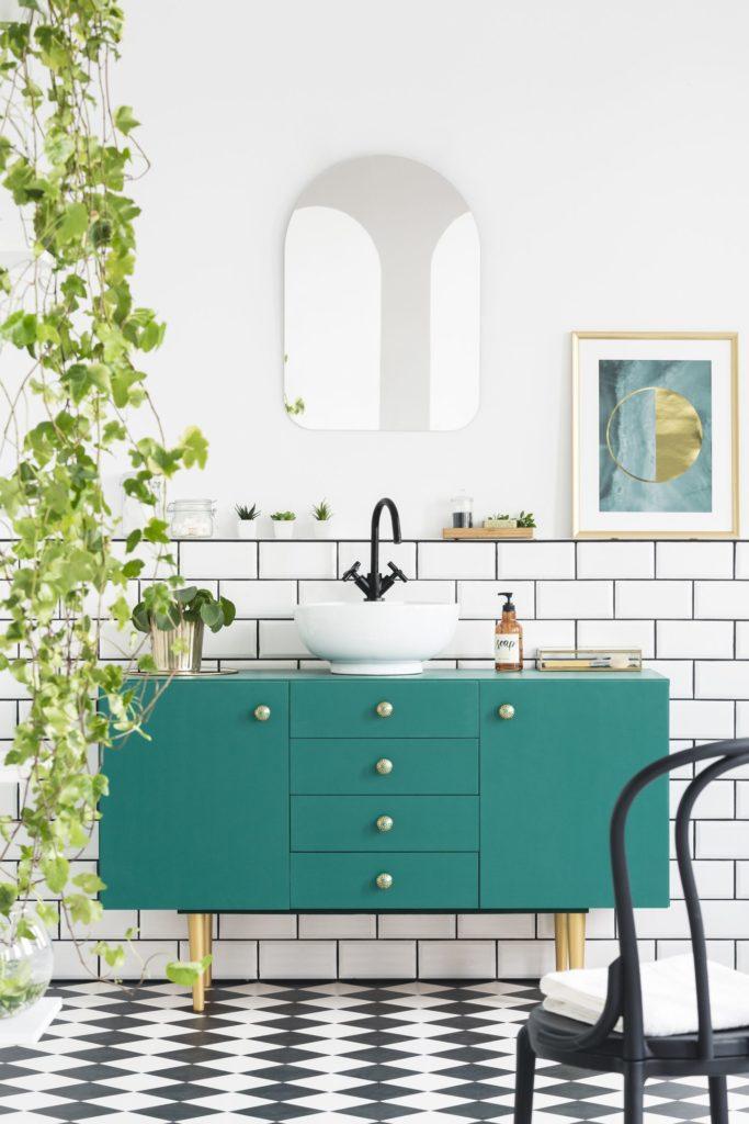 Интерьер 2021, зелёная мебель4